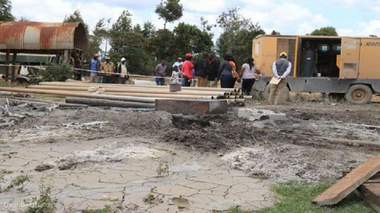Gas Samples from Nyeri Borehole submitted for Testing