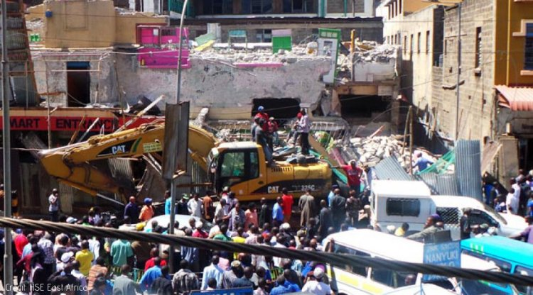 Building under Construction in Kisii Collapses